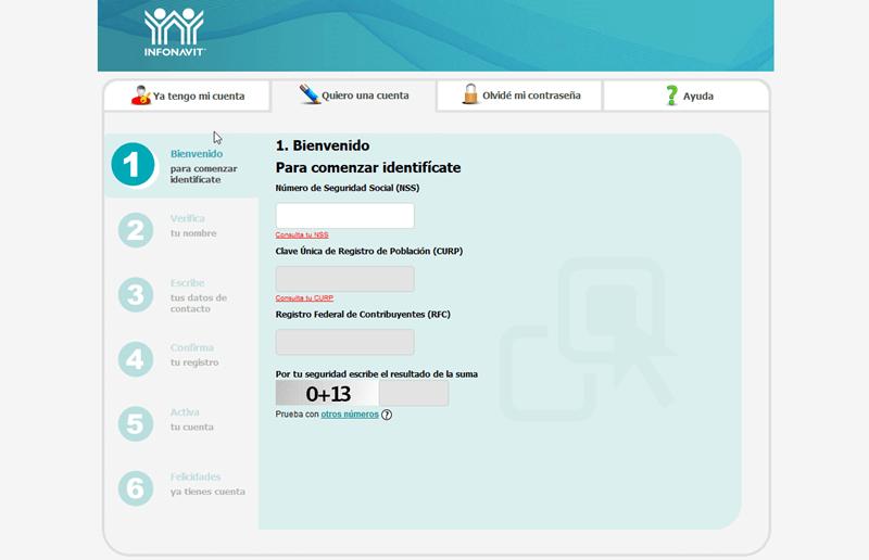 mi cuenta infonavit pagina de registro